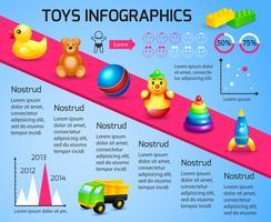 Speelgoed infographic sjabloon