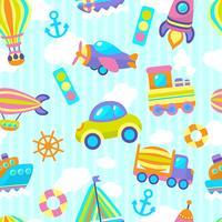 Vervoer speelgoed naadloze patroon