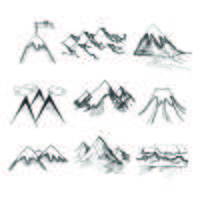 Bergtop pictogrammen