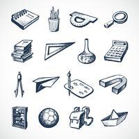 School schets iconen vector