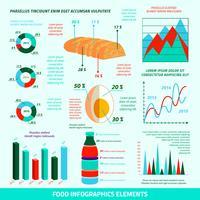 Voedsel infographic elementen