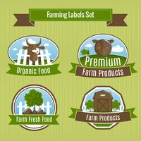 Landbouw oogst en landbouw badges vector