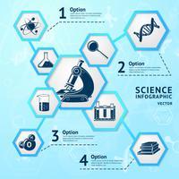 Science zeshoek infographic vector