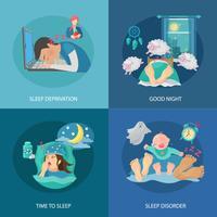 Slaaptijd plat vector