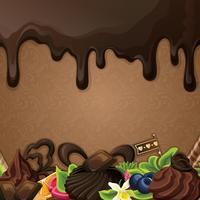 Zwarte chocolade snoepjes achtergrond vector