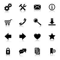 Website pictogrammen zwart