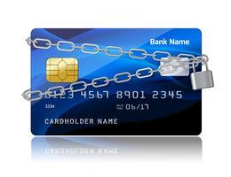 Betalingszekerheid van creditcard met chip vector