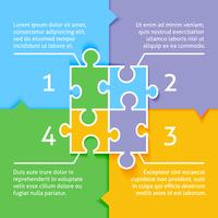 Puzzel infographic achtergrond vector