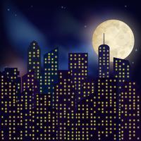 Nacht stadsaffiche vector