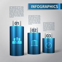 Infographic 3D-sjabloon vector