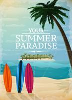 Vakantie reizen surfen print vector