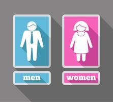 Vrouwen en mannen pictogrammen instellen gekleurd