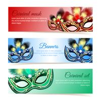 Carnaval maskerbanners