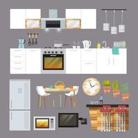 Keukenmeubilair plat vector