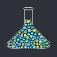 Science bekerglas concept