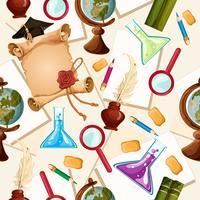 Onderwijs naadloos patroon vector
