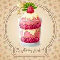 Raspberry parfait embleem vector