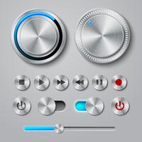 Metal Interface Buttons-collectie vector