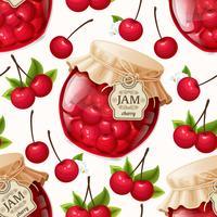 Cherry jam naadloze patroon vector
