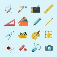 Ontwerper Tools Pictogrammen vector