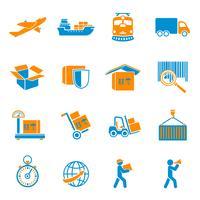 Verzending levering Icons Set