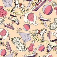 Speelgoed schets naadloze patroon