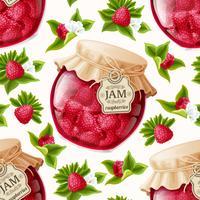 Raspberry jam naadloze patroon vector