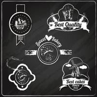 Bakkerij emblemen schoolbord vector