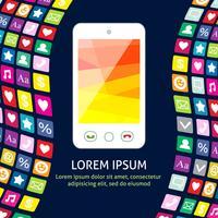 Smartphone met pictogrammen poster