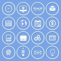Zakelijke papieren iconen vector