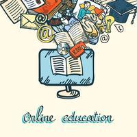 Online onderwijs pictogramserie