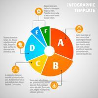 Cirkeldiagram vergadering infographic vector