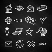 Internet schoolbord pictogrammen vector