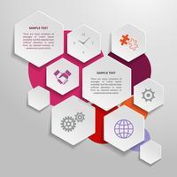 Papier zakelijke infographics ontwerpelementen vector