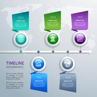 Tijdlijn infographics sjabloon vector