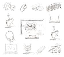 Zakelijke Computer Icons Set
