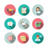 feedback web pictogrammen instellen vector