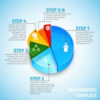 Cirkeldiagram vergadering infographic