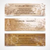 wetenschap schets vintage banners vector