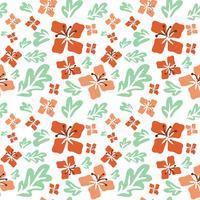 Tropische zomerbloemen naadloze patroon