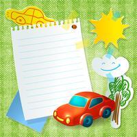 Speelgoed auto papier briefkaartsjabloon