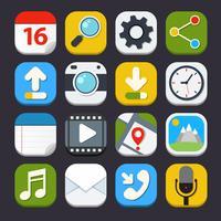Mobiele applicaties pictogrammen