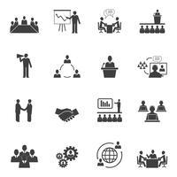 Maak kennis met People Online Icons vector