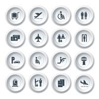 Luchthaven pictogrammen instellen vector