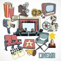 Vintage bioscoop concept poster