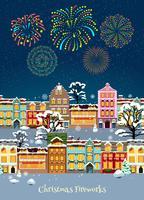 Kleurrijke kerstviering sjabloon