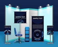 Promotionele tentoonstelling standaardsjabloon vector