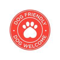 Hondvriendelijk pictogram vector