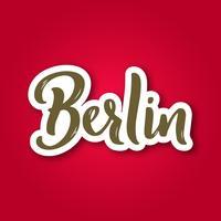 Berlijn - hand getrokken belettering zin. vector
