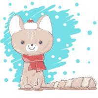 Leuke, mooie liefde kat illustratie. vector